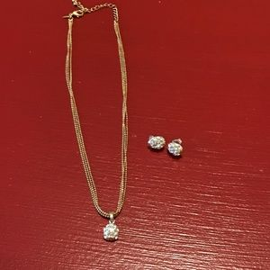 Ball Chain with Pendant & Matching Earrings